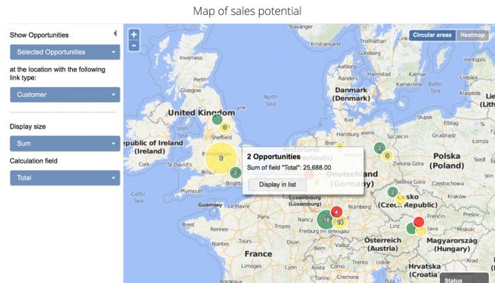 Mapas com clusters e avaliações de clientes